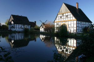 photo: Village pond and half-timbered houses in Westphalia. http://de.fotolia.com/id/227059 © Martina Berg / fotolia.com
