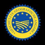 """Logo: EU-Siegel """"geschützte geografische Angabe"""" (g.g.A.)"""