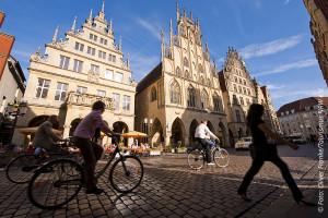 Foto: Historische Rathaus in Münster. Copyright Foto Oliver Franke, Tourismus NRW e.V.